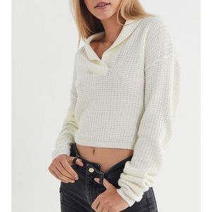 Urban Outfitters slow things down cropped sweater